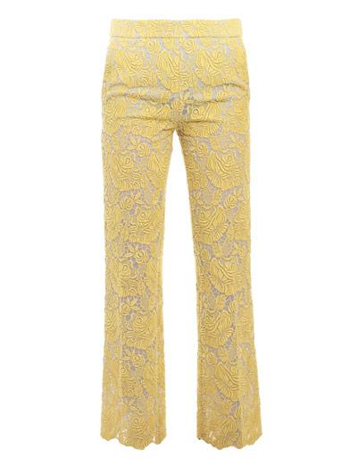 Lace Embellished Pants