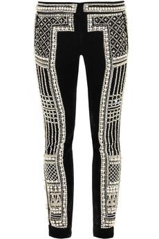 Embellished Velvet Pants
