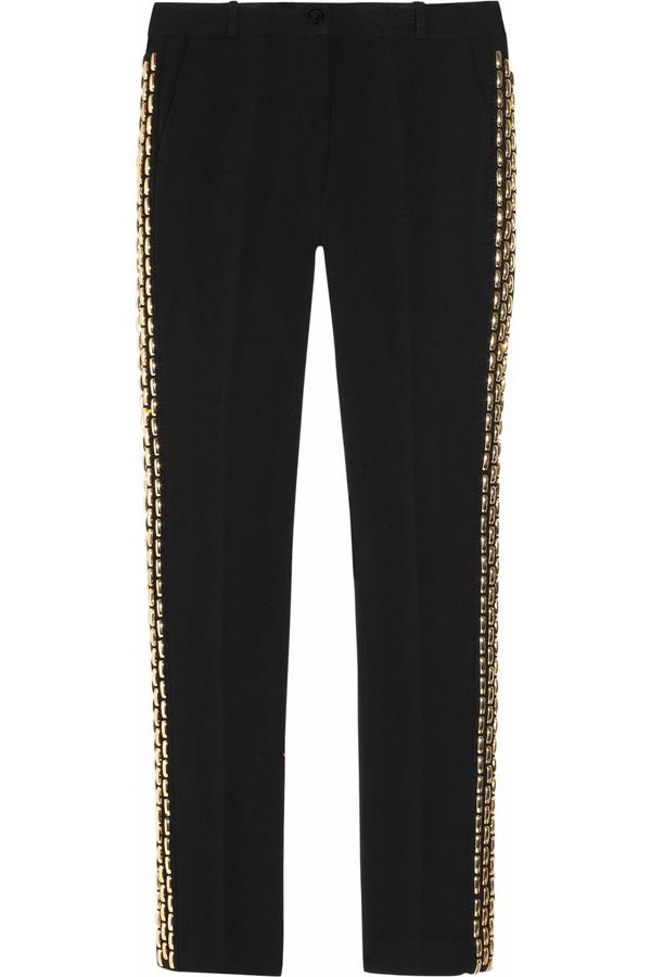 Chain Embellished Pants