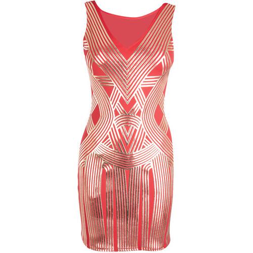 Graphic Art Deco Dress