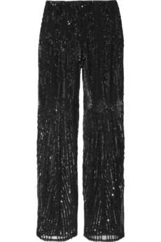 Bead Embellished Pants
