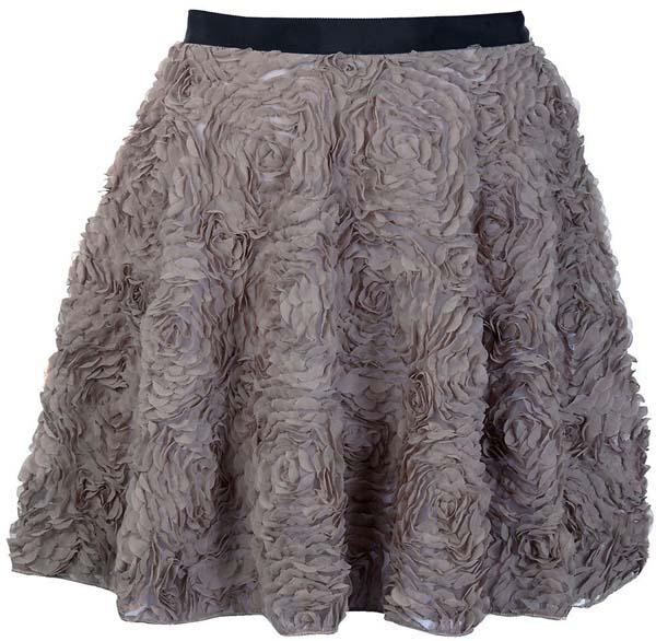 Flower Flared Party Skirt