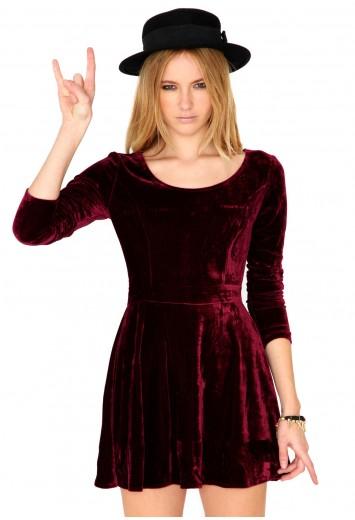 a19006cfad Maalika Long Sleeve Velvet Skater Dress 7 Cute Holiday Dresses