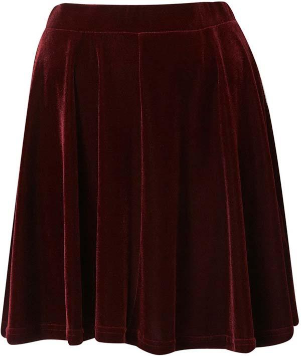 Velvet Flared Party Skirt