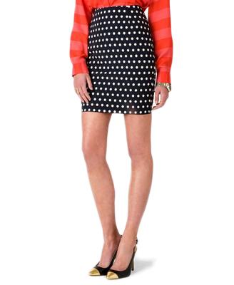 Essential Polka Dot Pencil Skirt