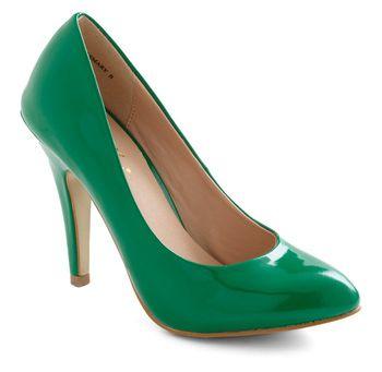 Glossy Green Patent Heels