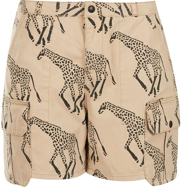 Giraffe Print Shorts