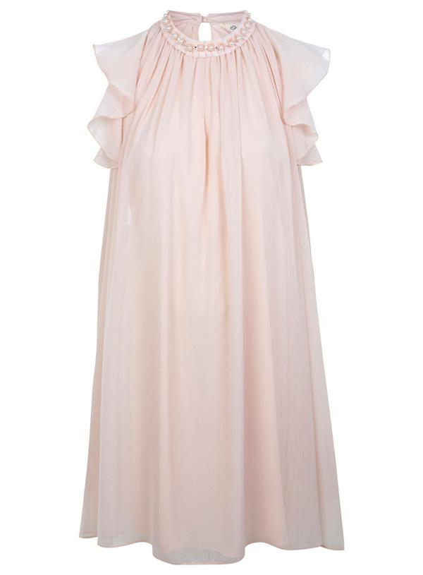 Pink Embellished Swing Dress
