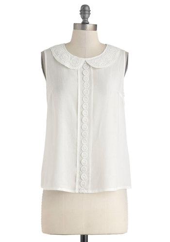 Sleeveless Collared Shirt