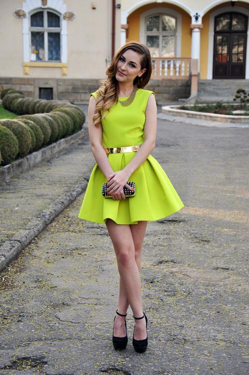 Neon Evening-wear