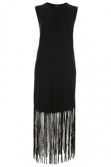 TopShop Tassle Jersey Midi Dress