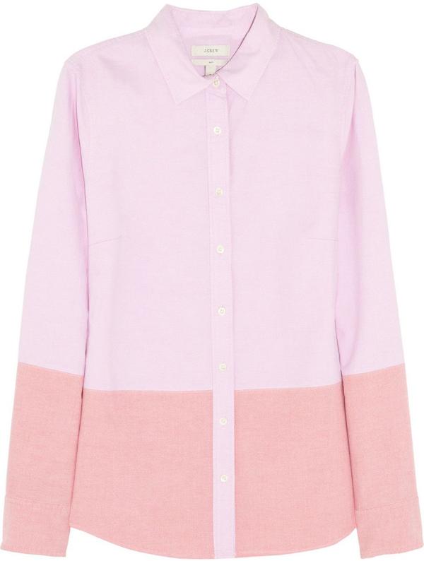 Colour Blocked Oxford Shirt