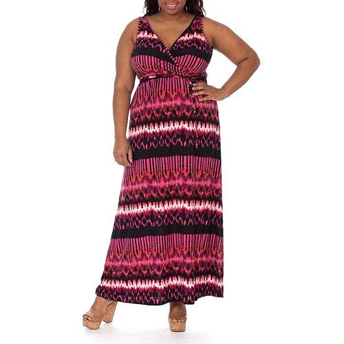 Knit Maxi Dress with Tie Waist