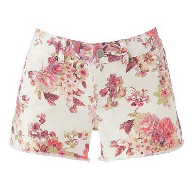 LC Lauren Conrad Floral Denim Shorts