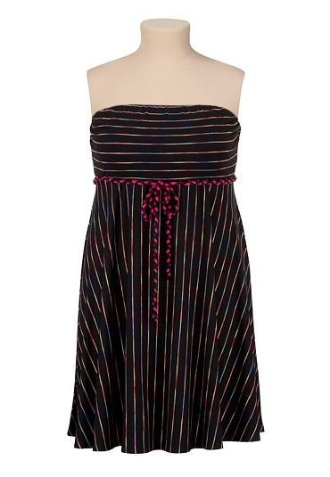 Multi-Color Stripe Tube Dress