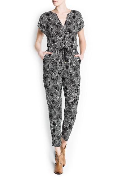 Paisley Print Jumpsuit
