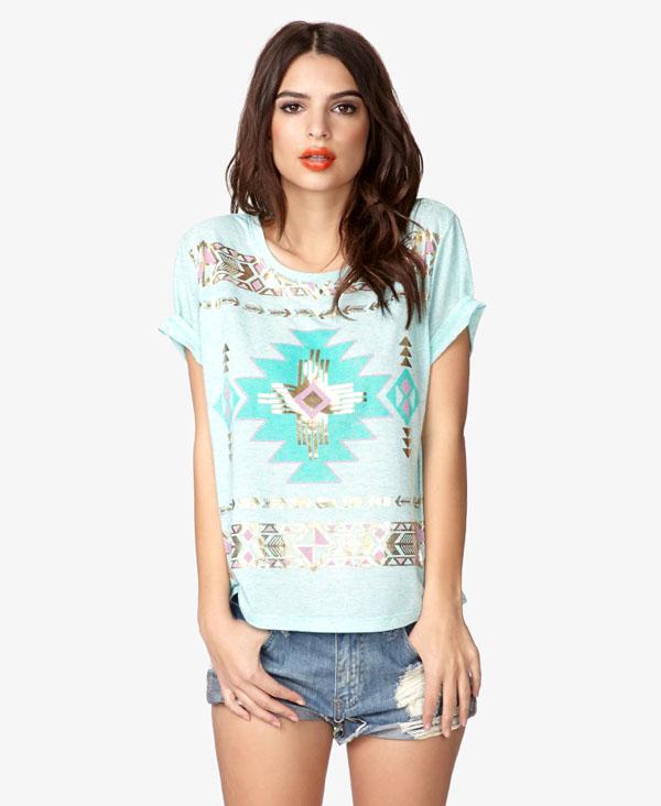 Pastel Tribal Printed T-shirt