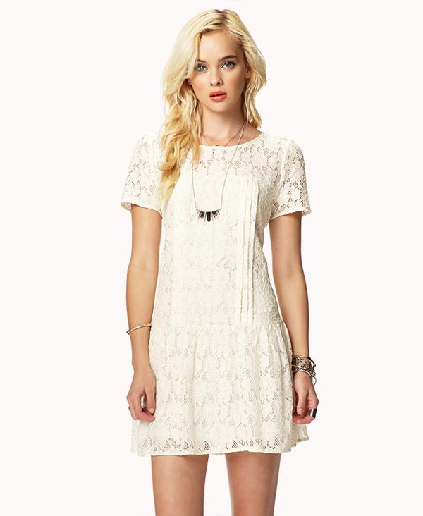 Drop Waist Lace Dress