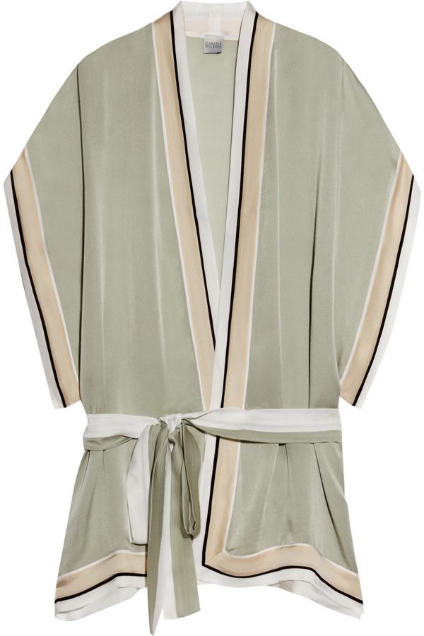 Striped Silk Kimono