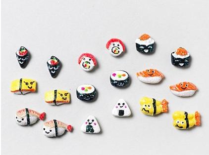 Glitter Sushi Stud Earrings
