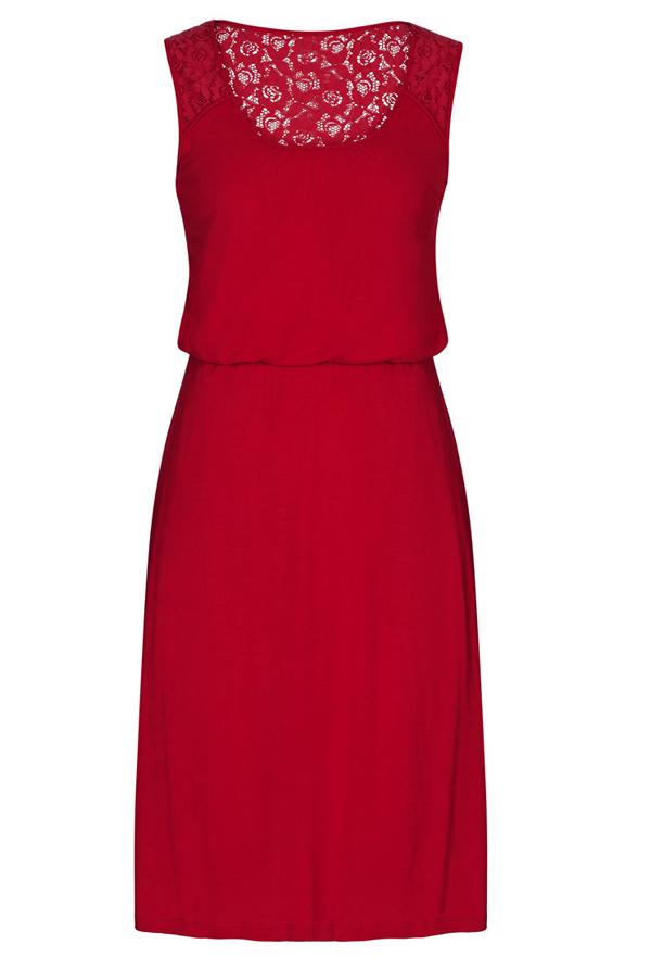 Long Tall Sally (LTS) Red Lace Back Summer Dress - 7 Summer… b77a689caaca