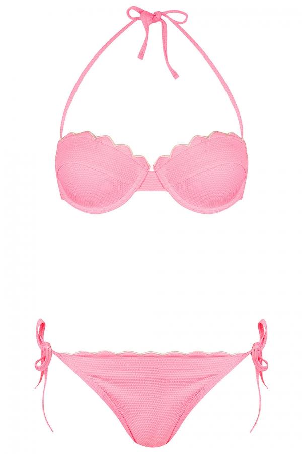 Scalloped Texture Bikini