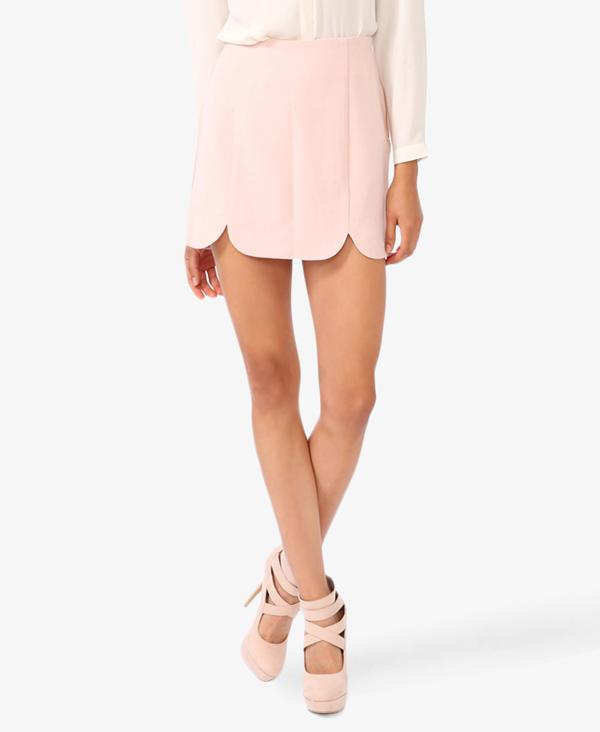 Scalloped Blush Skirt