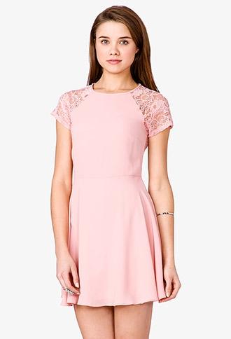 Lace Back Dress