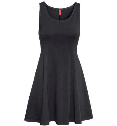 Back in Black Jersey Dress