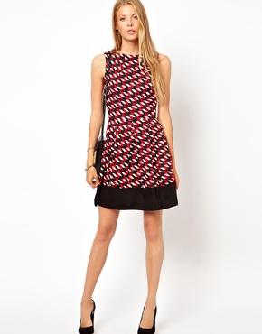 Arrow Print Skater Dress