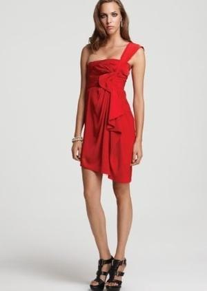 JESSICA SIMPSON Beaded One-Shoulder Dress