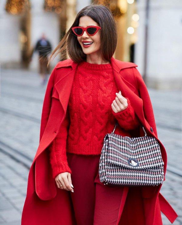 red, fashion model, fashion, vision care, eyewear,