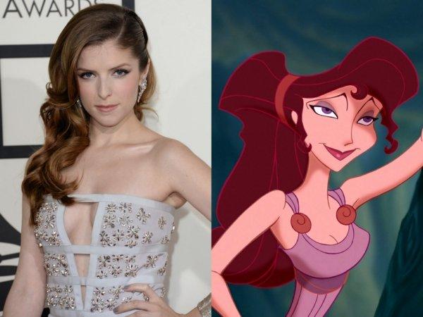 """Anna Kendrick as Megara from """"Hercules"""""""