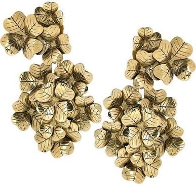 Yves Saint Laurent Lucky Chyc 5-Karat Gol-Plated Clover Earrings