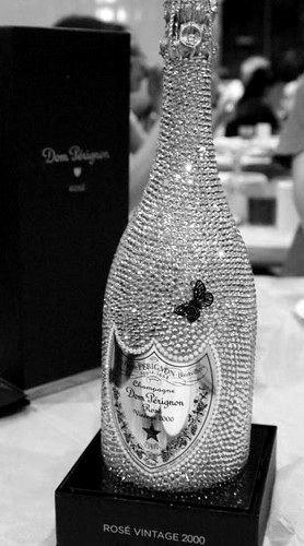 Swarovski-embellished Bottle of Vintage Dom Perignon Champagne