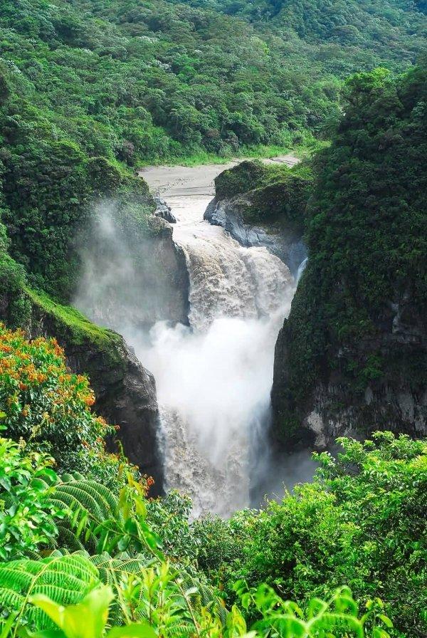 Coca Falls on the Napo River, Tributary to the Amazon River, Ecuador
