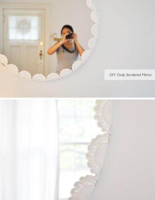 Doily Framed Mirror