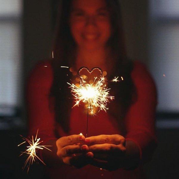 red, sparkler, lighting, light, candle,