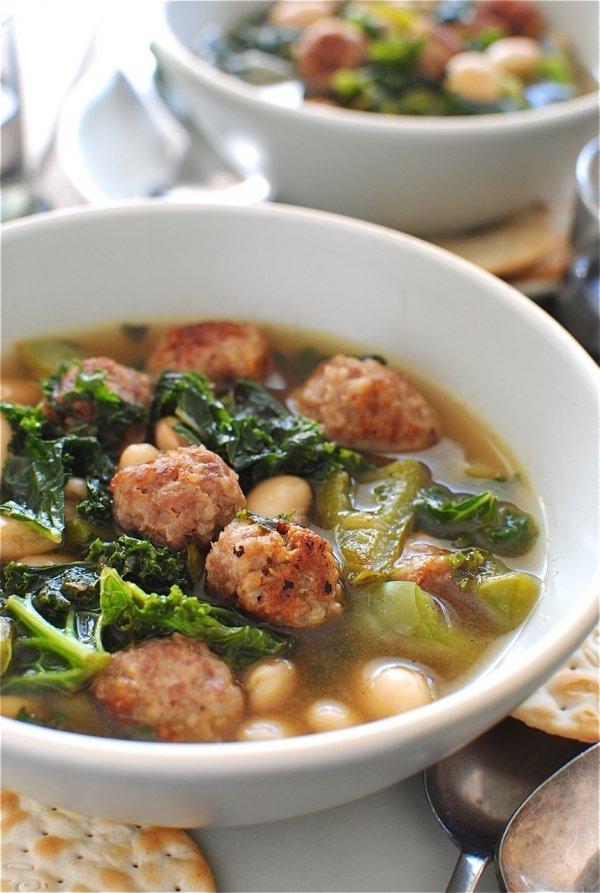 White Bean Soup with Kale and Chorizo