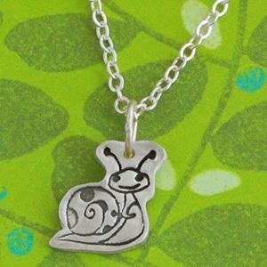 Little Happy Snail Necklace