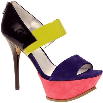ASOS Handfull Color Block Sandals
