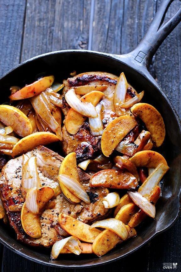Apple Cinnamon Pork Chops