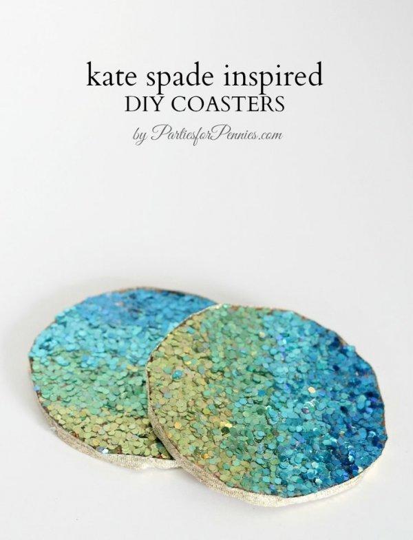 Kate Spade Inspired DIY Coasters