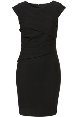 Topshop Ponte Pleated Bodycon Dress