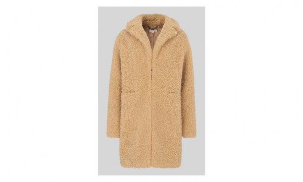 woolen, coat, beige, fur,