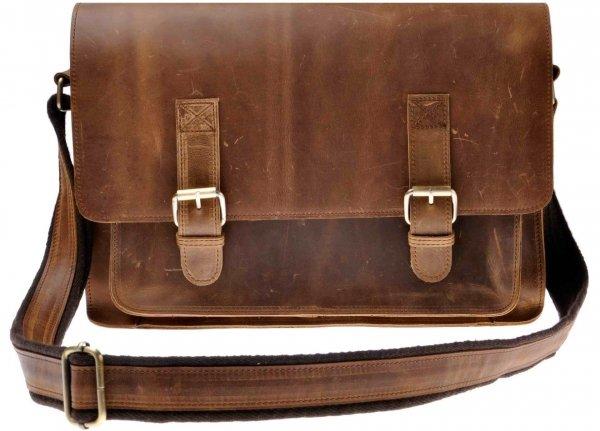 ZLYC Men Vintage Retro HANDMADE Leather