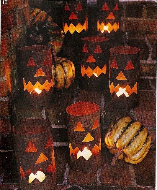 Tin Can Jack-0-lanterns