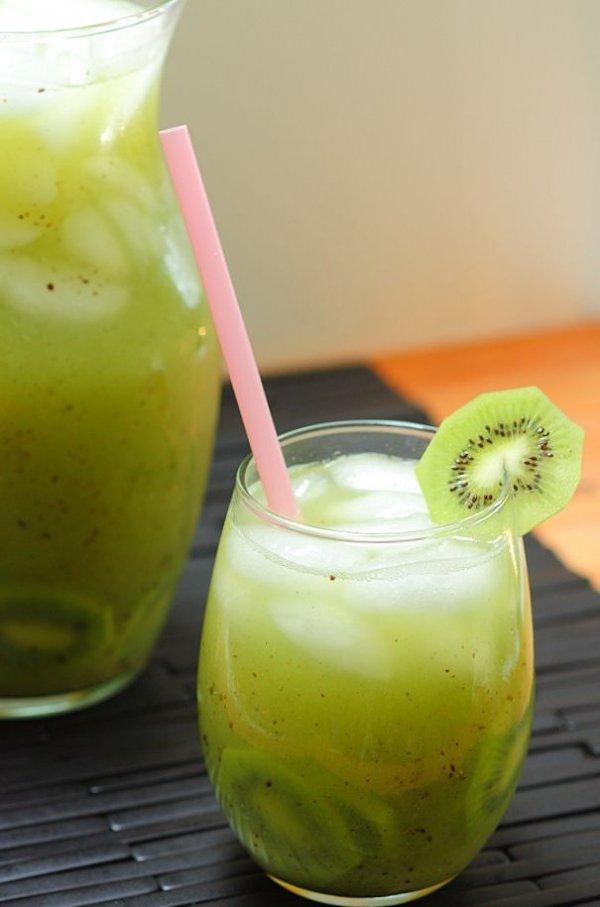 Kiwi and Cucumber Agua Fresca