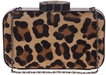 Lulu Guinness Leopard Print Clutch Bag