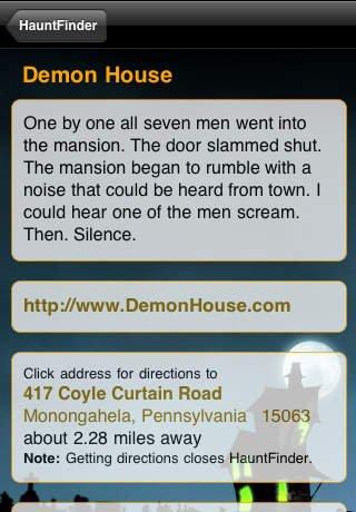 Halloween Haunted House Finder